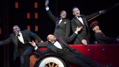 Joshua Henry, Brandon Victor Dixon, Billy Porter, Brian Stokes Mitchell and Richard Riaz Yoder in Shuffle Along.