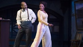 Brandon Victor Dixon as Eubie Blake and Audra McDonald as Lottie Gee in Shuffle Along/