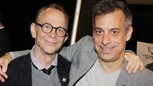 The Normal Heart director Joel Grey throws an arm around the show's star Joe Mantello, who earned a Best Actor Tony nomination 15 years after the star director gave his last performance.