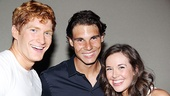 Sky and Sophie, meet Rafa! Jordan Dean and Liana Hunt are all smiles with defending U.S. Open champion Rafael Nadal.