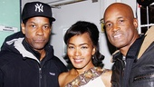 When Denzel Washington comes in for a close-up with Angela Bassett and Kenny Leon, you get a photo of one seriously talented trio.