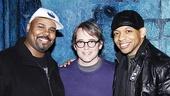 Matthew Broderick shares a post-show snapshot with Memphis men James Monroe Iglehart and Derrick Baskin.