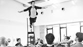 Peter and the Starcatcher Rehearsal – Adam Chanler-Berat Flying
