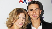 Caissie Levy and Richard Fleeshman get racy on stage, but off stage the two are best friends.
