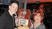Once Tony winner Steve Kazee gets a gift from drag Anne L. Nathan. Only at the Flea Market, folks…