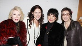 The Performers – preview opening – Joan Rivers – Amanda Lipitz – Liza Minnelli – Robyn Goodman