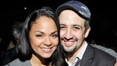 Welcome back to the Heights! Breakout stars Karen Olivo and Lin-Manuel Miranda go cheek-to-cheek after the reunion concert.