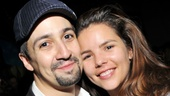 Lin-Manuel Miranda pulls his wife Vanessa in close. We still remember tearing up during his Tony acceptance speech dedicated to her!
