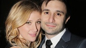 Broadway babe Caissie Levy goes cheek-to-cheek with husband, David Reiser.