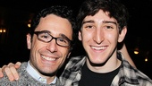 A year after opening night, Newsies choreographer Christopher Gattelli and cast member Ben Fankhauser still look elated.