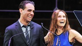 "Bobby Cannavale and Laura Benanti joke around about their Italian names before getting down to business. ""Who is musical theater's biggest queen?"" Benanti asked before handing out the award for Favorite Actor in a Musical."