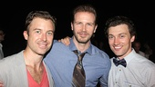 Love's Labour's stars Lucas Near-Verbrugghe and Bryce Pinkham flank Shakespeare in the Park alum Bill Heck.