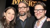 Shrek DVD director Michael Warren celebrates with Sutton Foster and Christopher Sieber.
