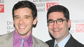 The event's host with the most Michael Urie is all smiles with his Buyer & Cellar playwright Jonathan Tolins.