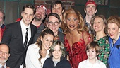 The cast of Kinky Boots rallies around the Broderick family. See the Tony-winning musical at the Al Hirschfeld Theatre!