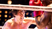 Andy Karl as Rocky Balboa & Terence Archie as Apollo Creed in Rocky