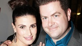 Idina Menzel with Broadway.com editor Paul Wontorek.