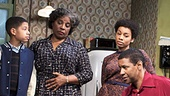 David Cromer as Karl Lindner, Bryce Clyde Jenkins as Travis Younger, LaTanya Richardson Jackson as Lena Younger, Anika Noni Rose as Beneatha Younger, Denzel Washington as Walter Younger & Sophie Okonedo as Ruth Younger in A Raisin in the Sun