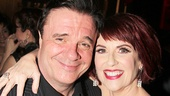 Guys and Dolls headliners Nathan Lane (Nathan Detroit) and Megan Mullally (Adelaide) take an adorable post-show photo.