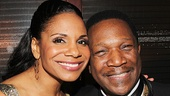 Audra McDonald with Shelton Becton, who plays Billie Holiday's pianist Jimmy Powers in Lady Day.