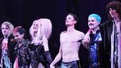 Lena Hall, Neil Patrick Harris and the Hedwig band take a company bow.