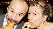 Danny Burstein (Herr Schultz) and Linda Emond (Fraulein Schneider) enjoy some tasty pizza from Two Boots.