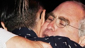 Alan Cumming gets a hug from Roundabout Theatre Company artistic director Todd Haimes.