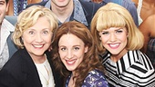 Hillary Clinton takes a parting shot with the cast of Beautiful: The Carole King Musical. See them make beautiful music together the Stephen Sondheim Theatre!