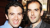 Jarrod Spector takes a snapshot with Marc Bruni, director of Beautiful and Broadway Salutes.
