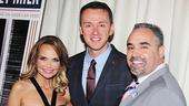 Kristin Chenoweth and Andrew Lippa take a snapshot with Hetrick Martin CEO Thomas Krever.