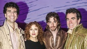 Something Rotten! - Backstage - 4/15 - John Cariani - Bernadette Peters - Christian Borle - Brian d'Arcy James