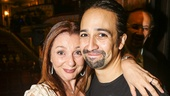 Hamilton - backstage - 8/15 - Donna Murphy and Lin-Manuel Miranda