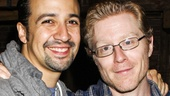 Hamilton - backstage - 8/15 - Lin-Manuel Miranda - Anthony Rapp