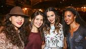 Hamilton - backstage - 8/15 - Jasmine Cephas Jones, Phillipa Soo, Katy Perry and Renee Elise Goldsberry