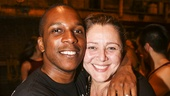 Hamilton - backstage - 8/15 - Leslie Odom Jr. and Camryn Manheim