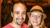 Hamilton - backstage - 8/15 - Lin-Manuel Miranda and Kelli O'Hara