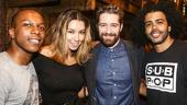 Hamilton - backstage - 8/15 - Lesli Odom Jr., Renee Morrison, Matthew Morrison and Daveed Diggs.
