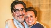 Hamilton - backstage - 9/15 - Alfred Molina - Jonathan Groff
