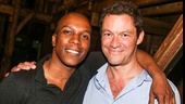 Hamilton - Backstage - 9/15 - Lesli Odom Jr. and Dominic West