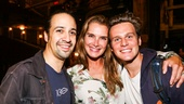 Hamilton - Backstage - 9/15 - Lin-Manuel Miranda, Brook Shields and Jonathan Groff