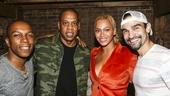 Hamilton - Backstage - 10/15 - Leslie Odom Jr., Jay Z, Beyonce and Javier Munoz