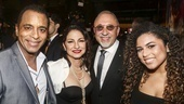 On Your Feet! - Opening - 11/15 - Jon Secada, Gloria Estefan, Emilio Estefan,  Jon's daughter Mikaela