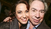 School of Rock - First Preview - Original Film Stars - Backstage - 11/15 - Sierra Boggess and Andrew Lloyd Webber