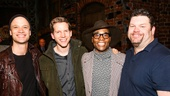 Kinky Boots - Billy Porter - Final Show - 11/15 -  Kyle Post, Stark Sands, Billy Porter and Daniel Stewart Sherman