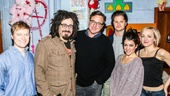 Hand to God - Backstage - 11/15 - Steven Boyer, Adam Duritz of Counting Crowes, Bob Saget, Michael Oberholtzer, Sarah Stiles and Geneva Carr