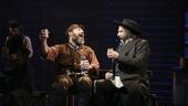 Danny Burstein as Tevye and Adam Dannheisser as Lazar Wolf in Fiddler on the Roof.