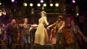 Leslie Kritzer as Salome and the cast of The Robber Bridegroom