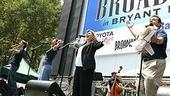 Photo Op - Broadway in Bryant Park 07-26-07 - Jason Danieley - Karen Kiemba - Debra Monk - Michael McCormick