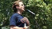 Photo Op - Broadway in Bryant Park 07-26-07 - Jason Danieley (singing)