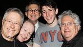 Composer Alan Menken, lyricist Jack Feldman, Disney Theatrical Group President Thomas Schumacher, actor Ben Fankhauser and librettist Harvey Fierstein lend their amazing talents to Newsies.